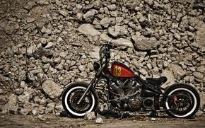 Picture design, stones, motorcycle, bike, XV1600, Bobber