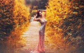 Picture autumn, figure, dress, shoes, sexy, Karen Abramyan