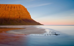 Picture The sky, Water, Sand, Mountain, Horizon
