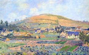 Wallpaper landscape, picture, Claude Monet, The mount Riboudet in Rouen. Spring
