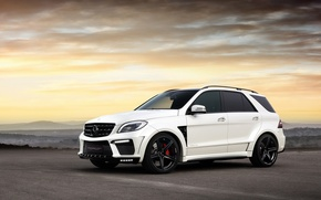 Picture tuning, SUV, car, ball Wed, AMG, White, Inferno, Mercedes-Benz ML63