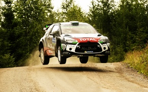 Picture Jump, Citroen, DS3, WRC, Rally, Rally, Finland