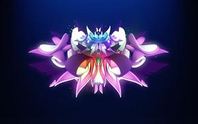 Wallpaper petals, graffiti, wings, flower