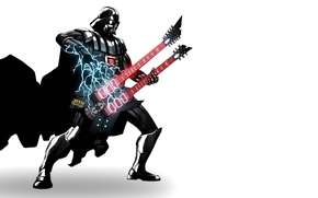 Picture power, lightning, guitar, darth vader, power, Guitar, Darth Vader, lighting, SITH Happens