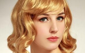 Picture look, girl, portrait, makeup, Golden hair