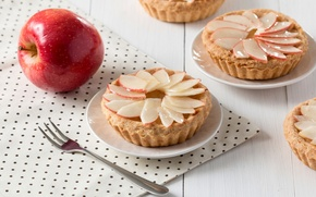 Picture Apple, cakes, baskets