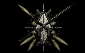 Picture weapons, black, arsenal, guns