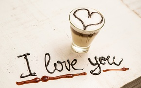 Picture love, heart, coffee, love, I love you, heart, romantic, coffee