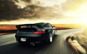 Picture clouds, speed, 911, Porsche, turn, Performance, feed, Autospeed