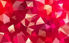 Picture line, red, pink, triangles, texture, bending, faces, geometry, polygons, combination, Magenta