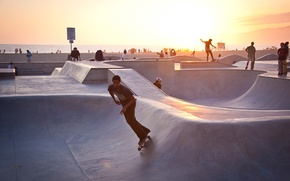 Picture summer, california, sunset, usa, los angeles, skater, venice beach
