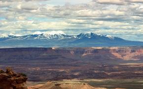 Wallpaper Clouds, Canyon, Mountains