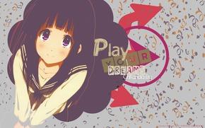 Picture phrase, Heck, Hyouk, Chitanda Era, Play Your Dreams, Chitanda Eru