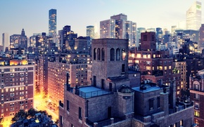 Picture lights, twilight, new York, New York City, usa, nyc, Twilight, Upper East Side