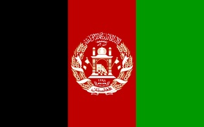 Picture green, red, black, flag, afganistan