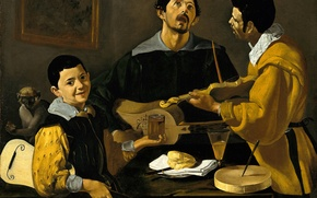 Picture picture, genre, Diego Velazquez, Three Musicians