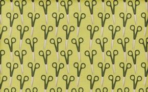 Picture green, texture, khaki, a lot, scissors