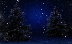 Picture winter, snow, trees, nature, tree, New year, Nature, trees, winter, snow, Merry Christmas, Magic Christmas …