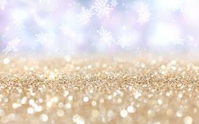 Picture snowflakes, stars, bokeh