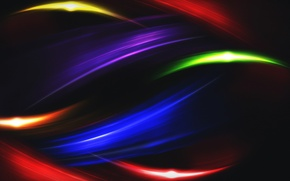 Wallpaper wave, line, abstraction, glare, rainbow