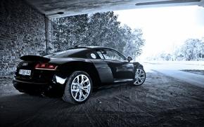 Picture machine, background, Audi R8, V10
