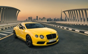 Picture Bentley, Continental, Car, Yellow, Luxury, Dudai