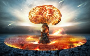 Picture explosion, energy, destruction, nuclear attack, nuclear bomb