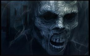 Picture fear, skull, zombies, Death, horror, undead, nightmare, dead