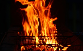 Picture background, fire, BBQ, grill