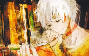 Picture look, smile, book, guy, art, Shion, the sixth zone, No. 6, Sion