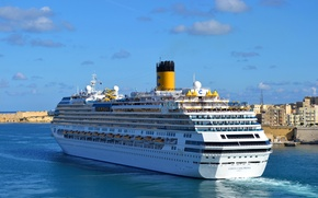 Picture ship, cruise liner, Costa Fascinosa, class of the Costa Concordia