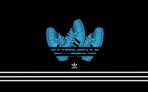 Picture Minimalism, Black, Background, Adidas, Adidas, Sneakers