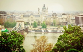 Picture water, light, the city, river, the building, lighting, Hungary, Budapest, The Danube, Budapest