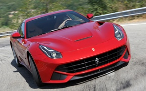 Picture movement, turn, Ferrari, berlinetta, the ferrari f12