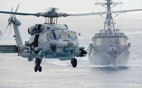 "Picture flight, helicopter, multipurpose, Seahawk, Sikorsky SH-60F, ""Sea Hawk"""