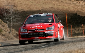 Picture Red, Auto, Racer, Citroen, Lights, WRC, Rally