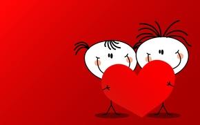 Wallpaper girl, men, heart, boy, Valentine's day
