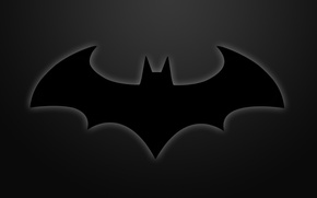 Wallpaper sign, dark, Batman