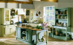 Picture design, room, interior, kitchen, English style