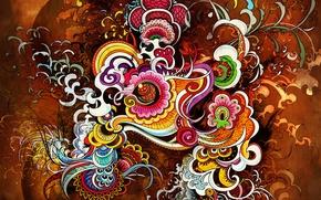 Wallpaper Bright, Abstraction, Color, Design