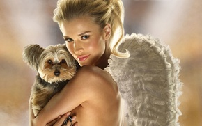 Picture sexy, dog, angel