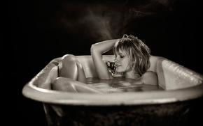 Picture actress, bath, TJ Scott, Astrea Campbell-Cobb