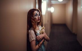 Picture girl, corridor, Bunny, Dreaming, Jesse Duke