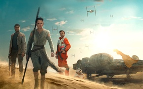 Picture sand, fiction, Finn, Star Wars: The Force Awakens, Star wars: the force awakens, Rey, Daisy …