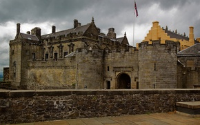 Picture castle, wall, tower, Scotland, Sterling, stirling castle