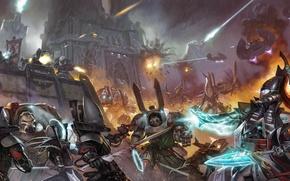 Picture 40000, war, warhammer 40K, elite soldiers