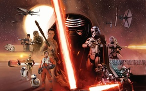 Picture Star Wars, Robots, Girls, Laser, The, Wallpaper, Jedi, Force, Year, Walt Disney Pictures, Movie, Sword, ...