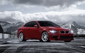 Picture mountains, red, tuning, BMW, BMW, car