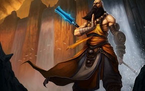 Picture beard, blizzard, diablo 3, monk
