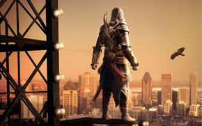 Picture the city, eagle, assassin's creed, revelations, crossbow